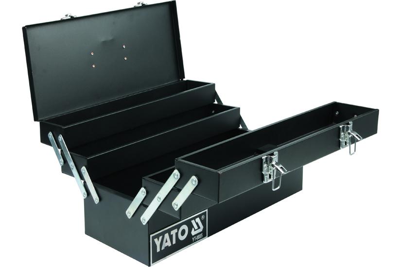 Kufr na nářadí kovový 46 x 20 x 22 cm 5-komorový Yato