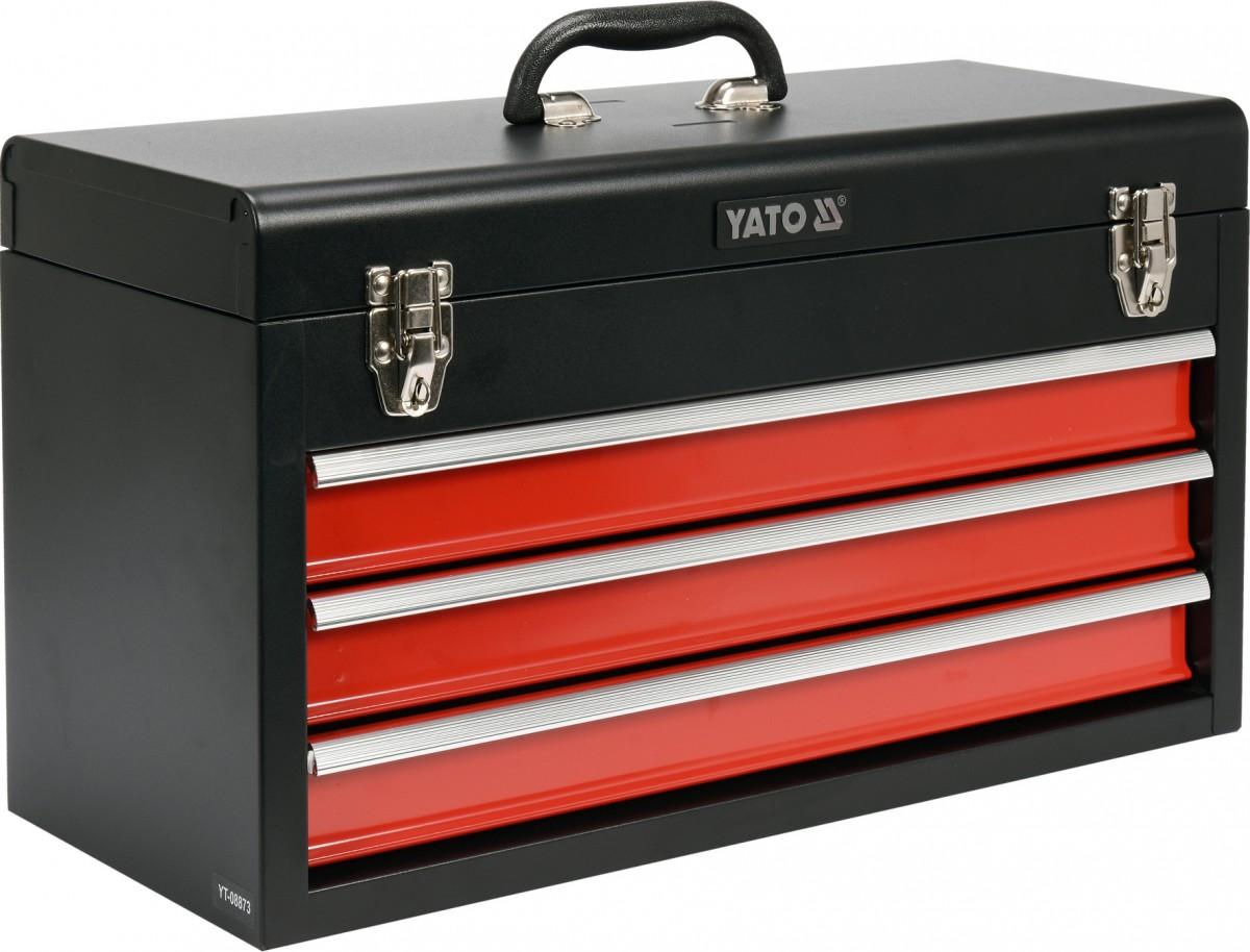 YATO Kufr, skříňka na nářadí 520 x 300 x 218 mm, 3 zásuvky YT-08873