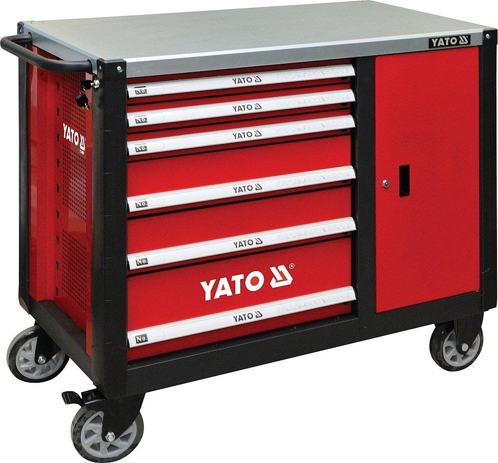 Pracovní stůl, pojízdný, 6 zásuvek a skříňka, Yato