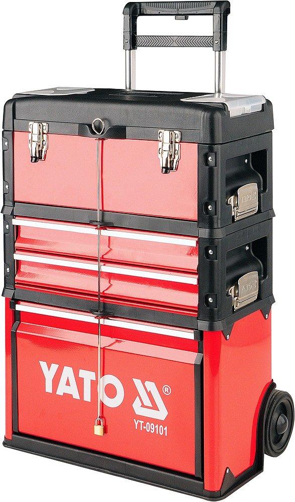 Vozík na nářadí, 3 sekce, 2 zásuvky, Yato