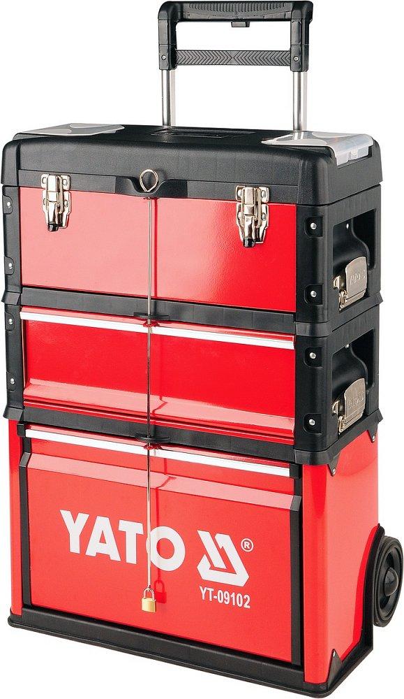 Vozík na nářadí, 3 sekce, 1 zásuvka, Yato