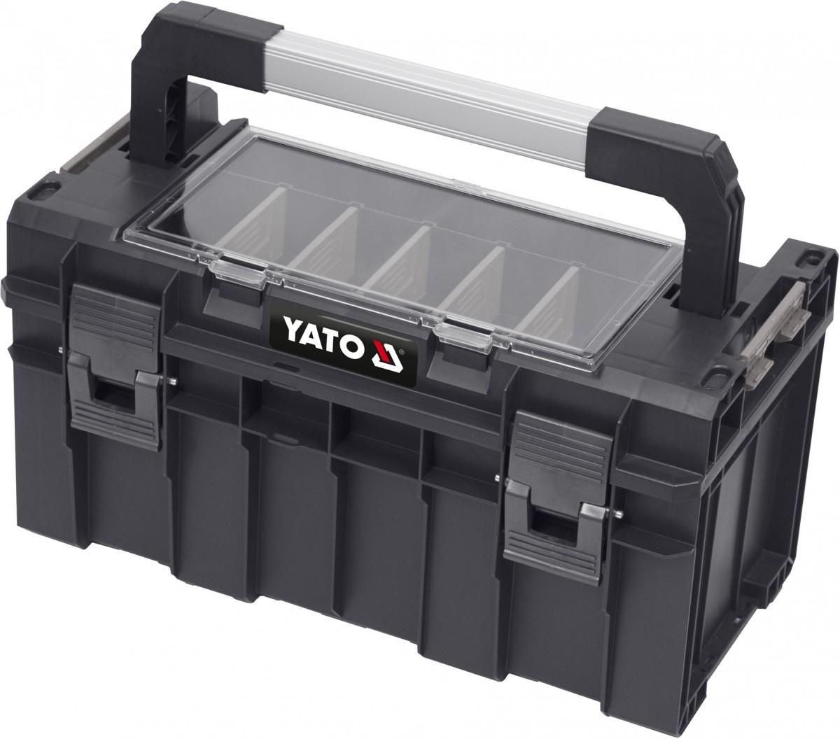 YATO Kufr na nářadí plastový box s organizérem 450x260x240mm YT-09183