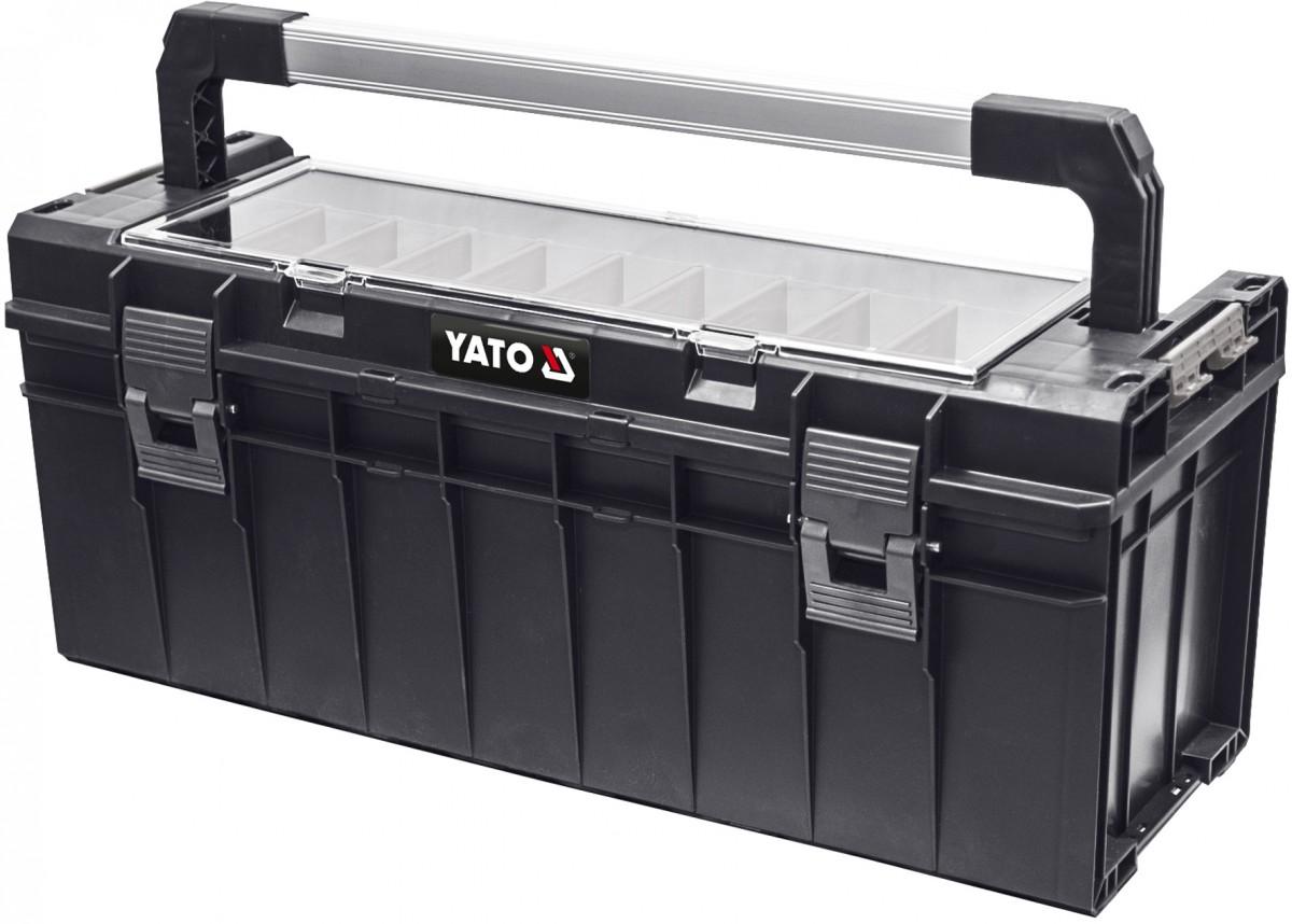 YATO Kufr na nářadí plastový box s organizérem 650x270x272mm YT-09184