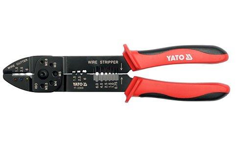 leště na odstranění izolace z vodičů, štípací a zamačkání konektorů, délka 240 mm, Yato