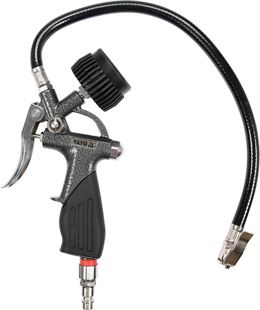 Plnič pneumatik s manometrem 0,6 MPa Yato YT-23701, pneuhustič