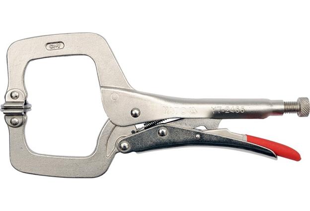 Kleště samosvorné rychloupínací, délka 280mm, typ C, Kloubové koncovky, Yato Nářadí 0.958Kg YT-2466
