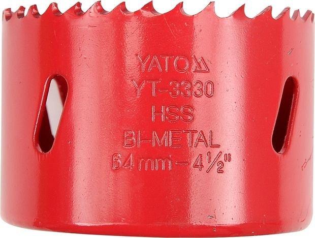 YATO Pilový vrták korunkový bimetalový vyřezávací 38 mm Nářadí 0.07Kg YT-3317
