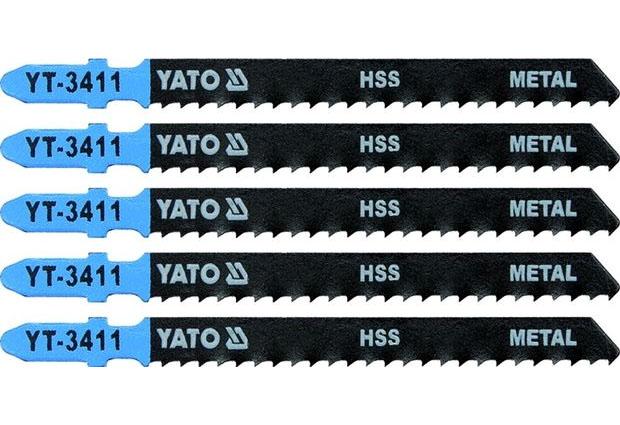 Listy pro přímočarou pilu, úchyt EU (BOSCH) , 100x3,0 , na kovové plechy, HSS, Yato