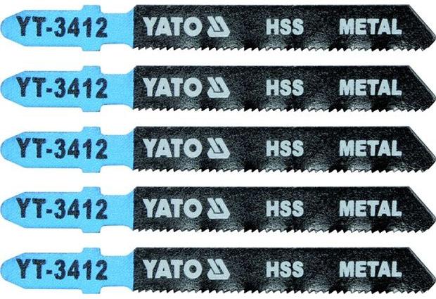 Listy pro přímočarou pilu, úchyt EU (BOSCH) , 75x1,2 , na kov, HSS, Yato
