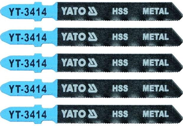 Listy pro přímočarou pilu, úchyt EU (BOSCH) , 75x0,8 , na ocel, HSS, Yato