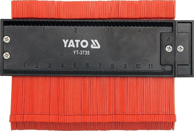 Šablona kopírovací na profily, magnetická, šíře 125 mm, Yato
