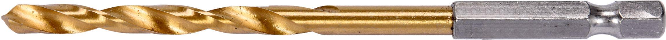 """Vrták do kovu HSS-titan 5,0mm se šestihranou stopkou 1/4"""" Yato YT-44761 Nářadí 0.026Kg YT-44761"""