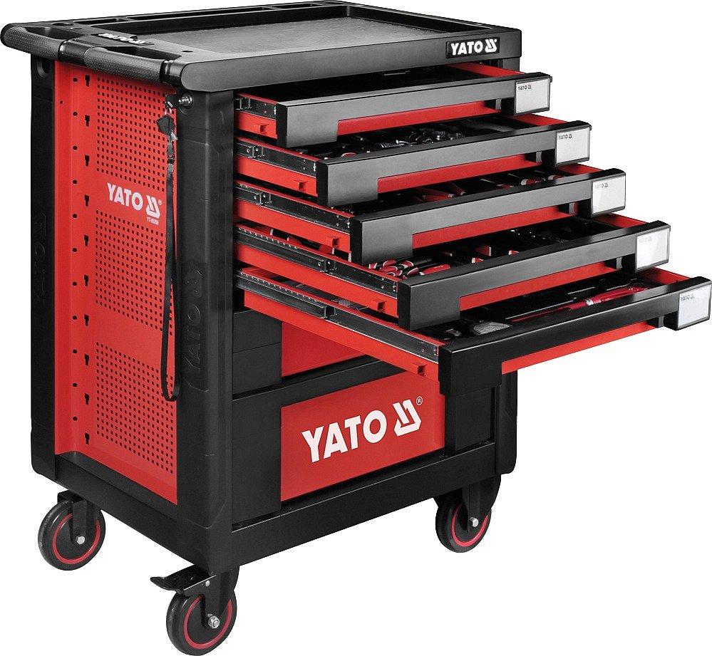 Skříňka pojízdná, s nářadím, 189 kusů, 7 zásuvek, Yato