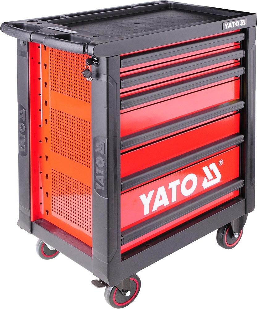 Skříňka pojízdná, s nářadím, 177 kusů, 6 zásuvek, Yato