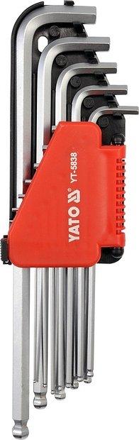Sada klíčů imbus s kuličkou palcové 12 ks extradelší