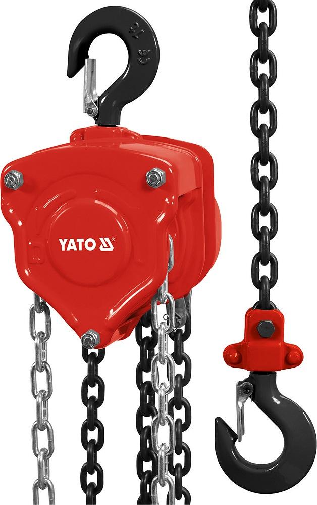 Zvedák  řetězový YATO nosnost 2 tuny zdvih 3m