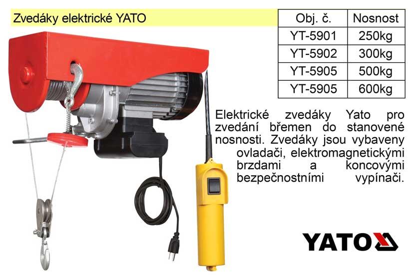 Zvedák elektrický nosnost 300 kg Nářadí 11.3Kg YT-5902