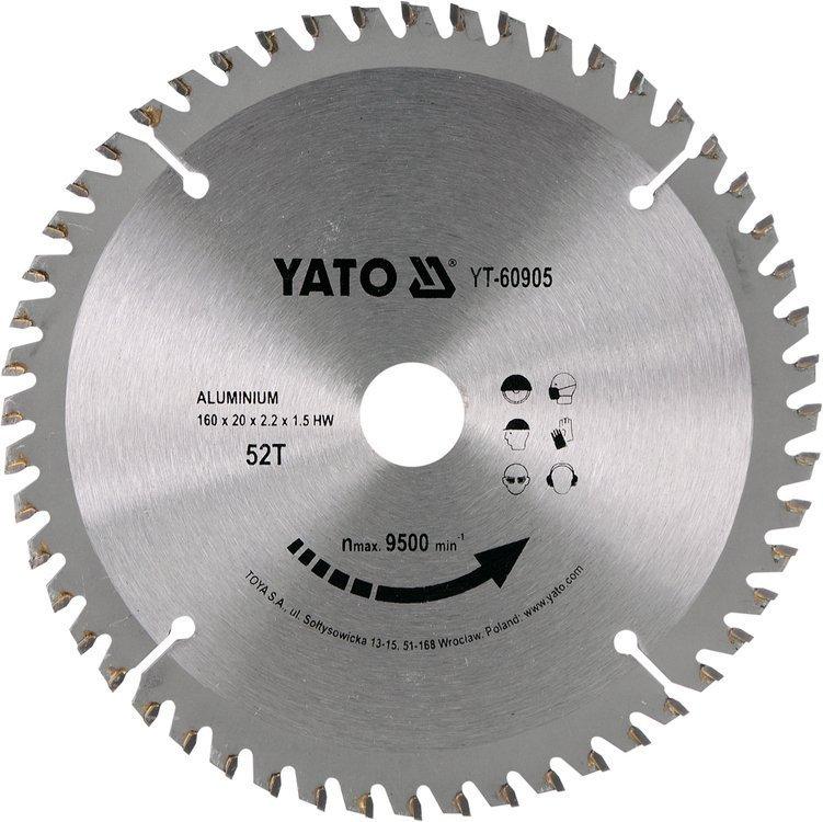 YATO Pilový kotouč na hliník 160x20mm 52 zubů YT-60905