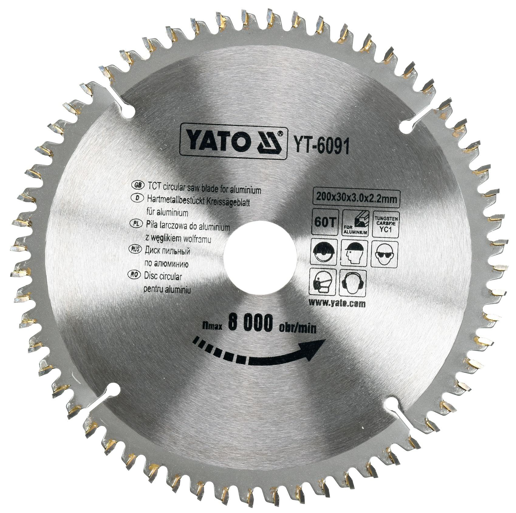 YATO Pilový kotouč na hliník 200x30mm 60 zubů YT-6091