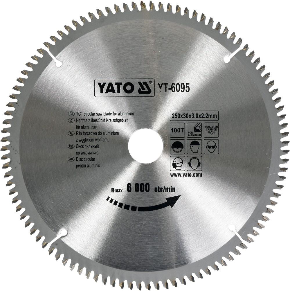 YATO Pilový kotouč na hliník 250x30mm 100 zubů YT-6095