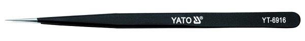 Pinzeta nerezová  špičatá s antistatickým povlakem 140mm Yato