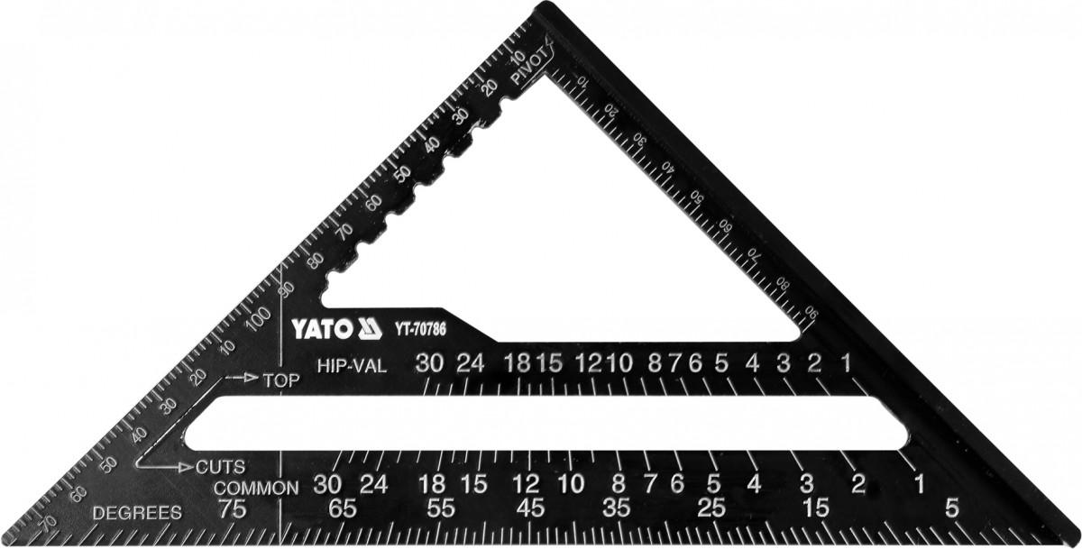 YATO Truhlářský - tesařský úhelník 180mm ALU YT-70786