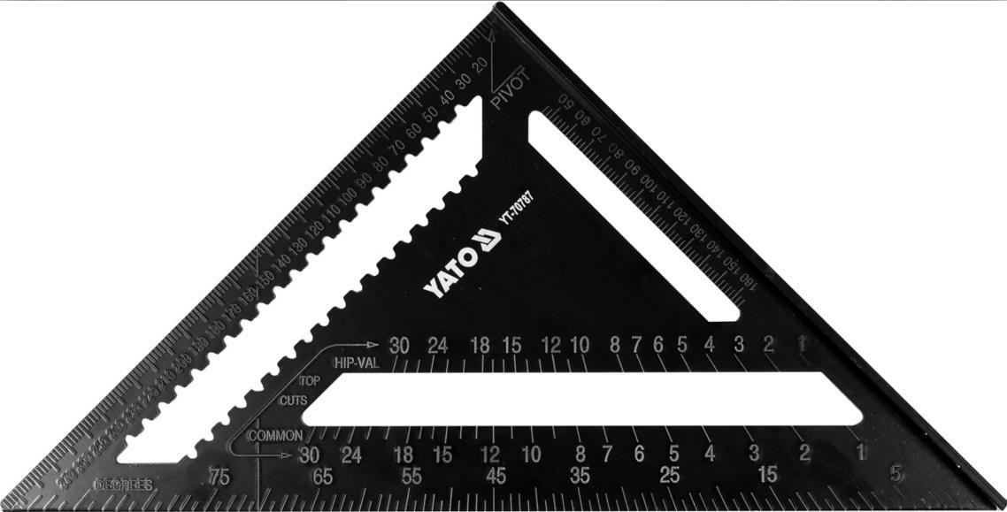 YATO Truhlářský - tesařský úhelník 300mm ALU YT-70787