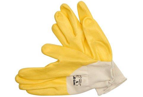 """Pracovní rukavice  polomáčené v nitrilu bavlněné vel.  10"""" YATO"""