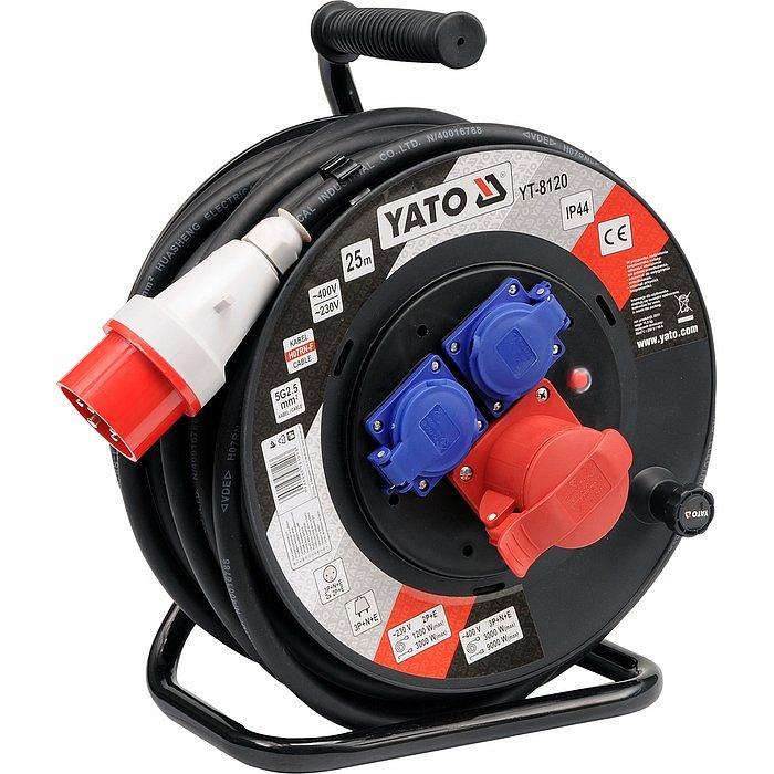 Prodlužovací kabel silový na bubnu 25m Nářadí | 11,5 Kg