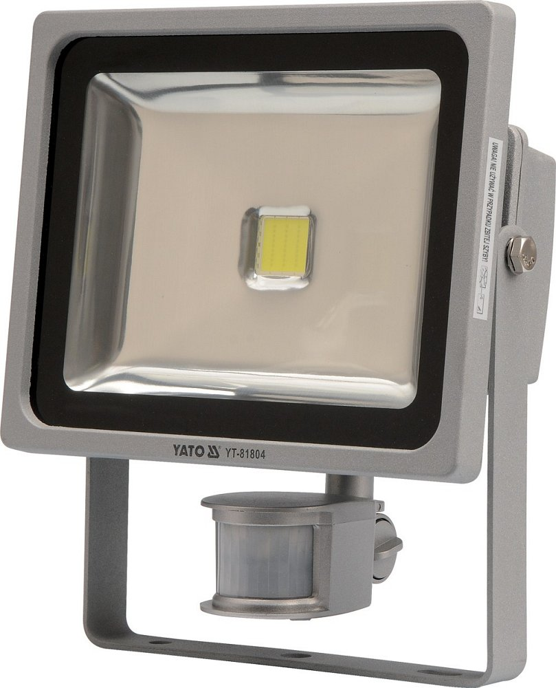 Reflektor LED 30 W s PIR čidlem a konzolí bílý Yato