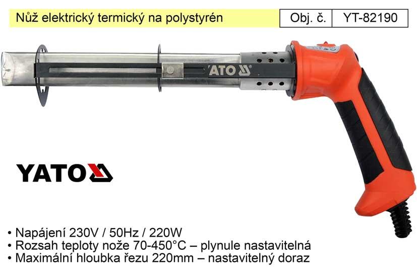 Nůž elektrický termický na polystyrén YT-82190 Nářadí-Sklad 2 |  Kg