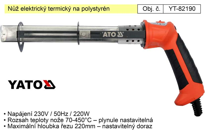 Nůž elektrický termický na polystyrén YT-82190