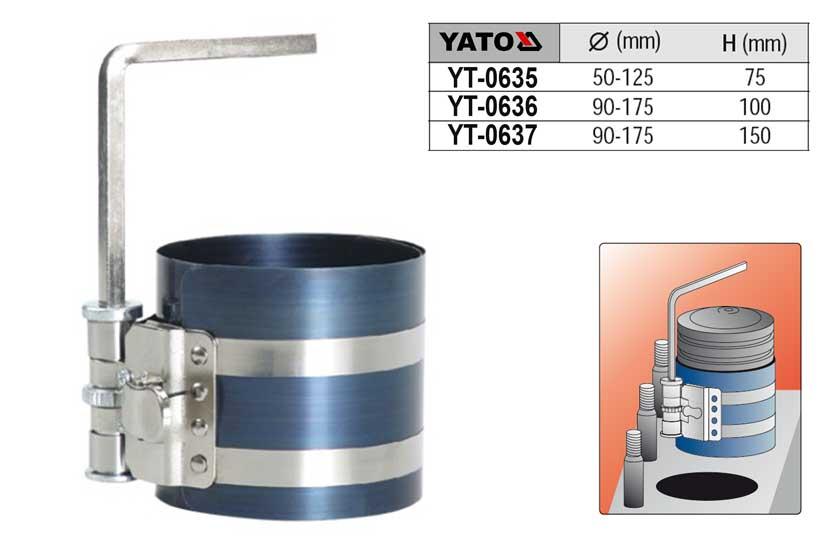 Přípravek na vkládání pístních kroužků 90-175mm hloubka 100mm YATO