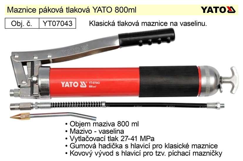 Maznice páková tlaková YATO 800ml