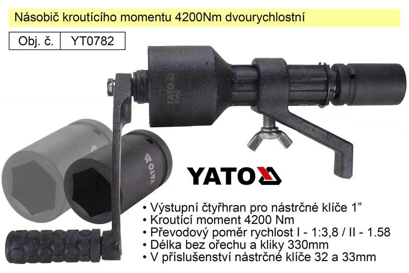 Násobič kroutícího momentu 4200Nm dvourychlostní Yato