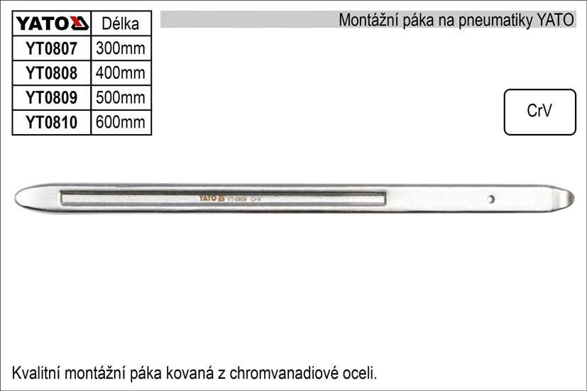 Montážní páka YATO délka 600mm