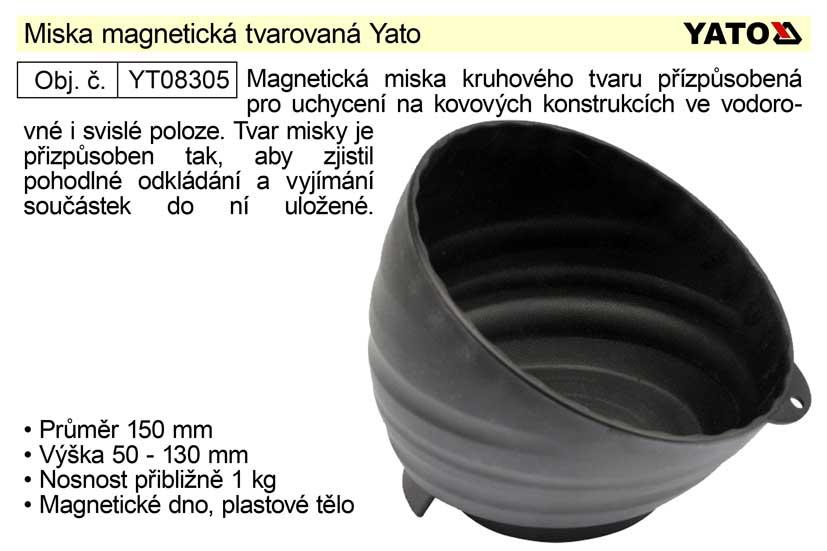 Miska magnetická tvarovaná Yato Nářadí 0.5Kg YT-08305