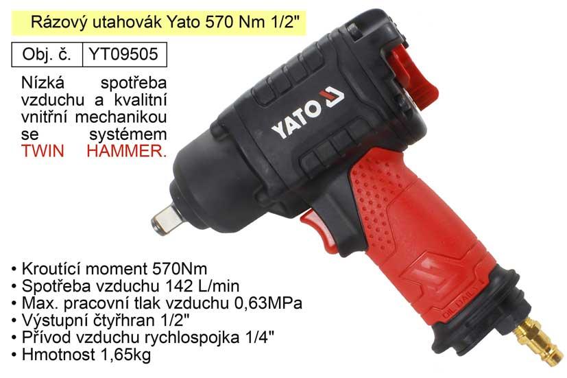 """Rázový utahovák Yato 570 Nm 1/2""""  YT-09505"""