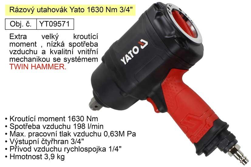 """Rázový utahovák Yato 1630 Nm 3/4""""  YT-09571"""