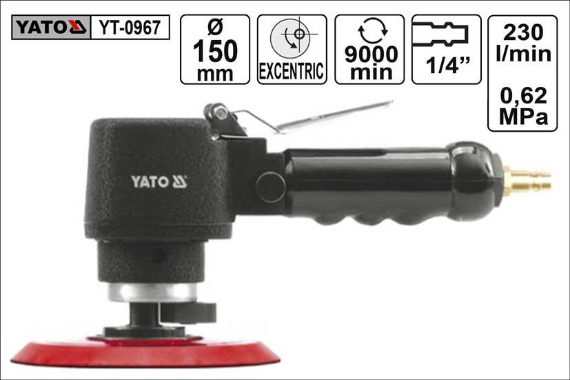 Bruska excentrická vzduchová 150mm Yato