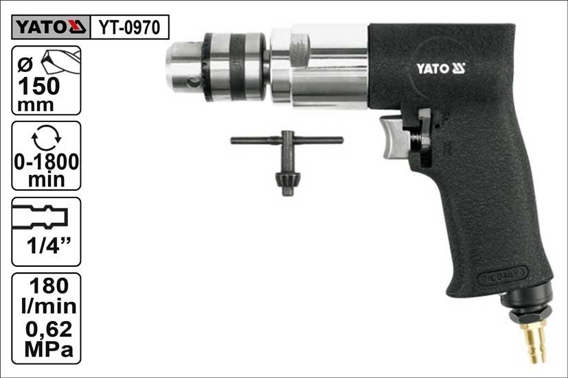 Vrtačka Yato vzduchová se sklíčidlem 1-10mm