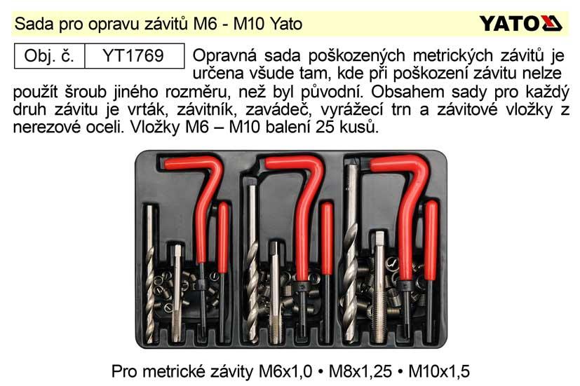 Sada pro opravu závitů M6 - M10 Yato