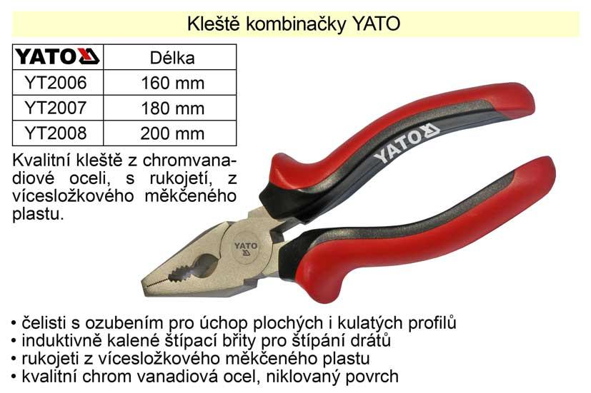 Kleště  YATO kombinačky 160mm