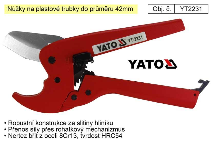 Nůžky na plastové trubky do průměru 42mm Yato
