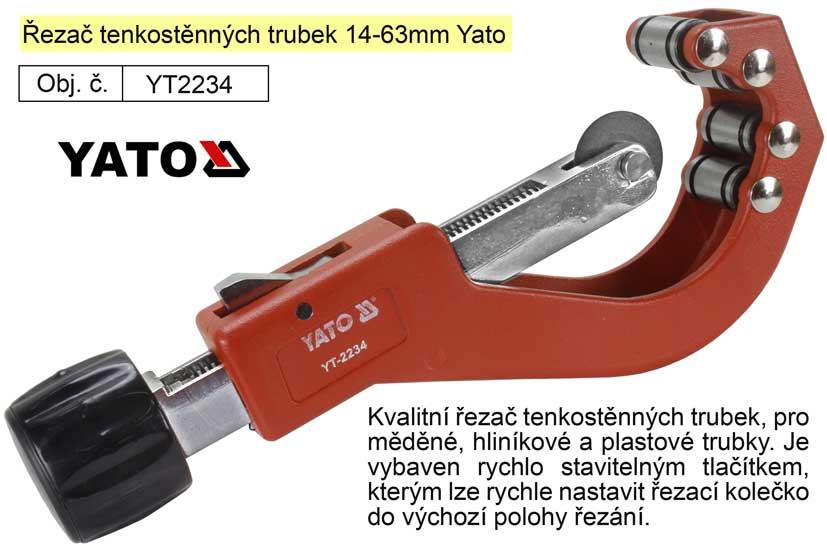 Řezač tenkostěnných trubek 14-63mm Yato