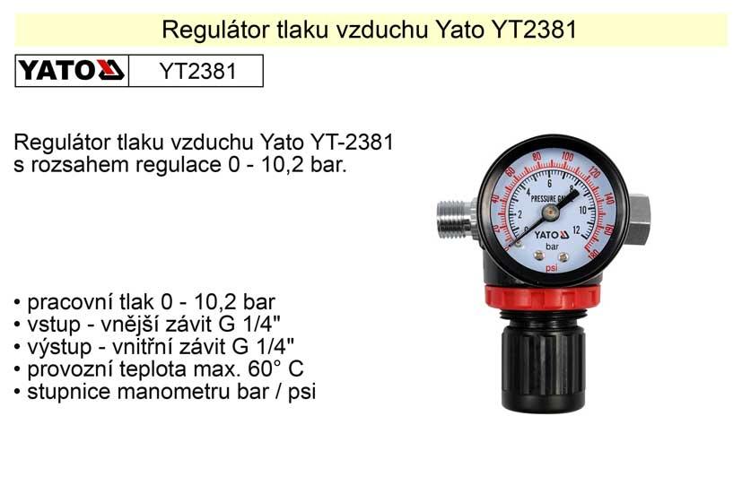 Regulátor tlaku vzduchu YT-2381