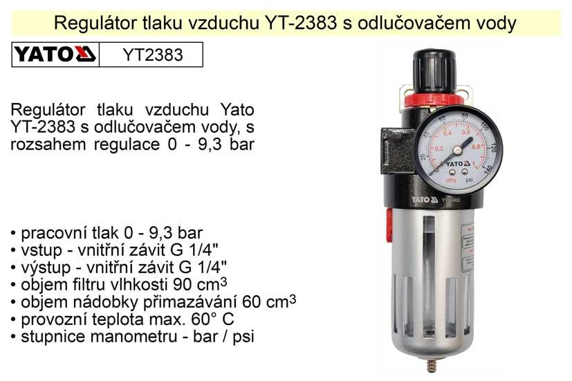 Regulátor tlaku vzduchu s odlučovačem YT-2383