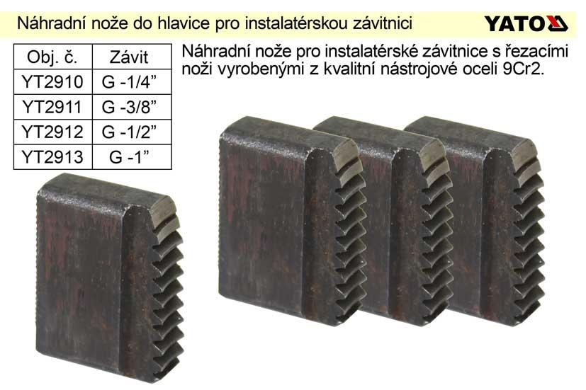"""Náhradní nože do hlavice  3/4"""" pro instalatérskou závitnici Nářadí 0.062Kg YT-2913"""