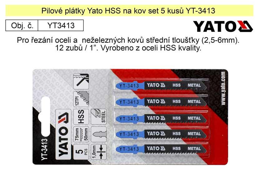Pilové plátky Yato HSS na kov set 5 kusů YT-3413
