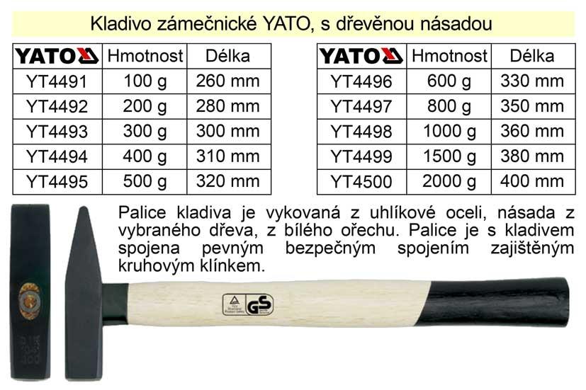 Kladivo zámečnické s dřevěnou násadou   100g